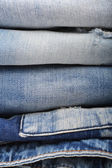 Stack of jeans — Stock Photo