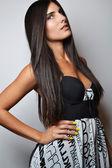 Mode foto van mooie vrouw — Stockfoto