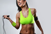 Beautiful fitness woman — Stock Photo