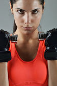 Egzersiz fitness güzel kadın — Stok fotoğraf