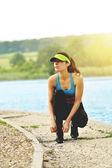 Mulher bonita fitness — Fotografia Stock