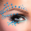 Eye with fantasy make up — Stock Photo