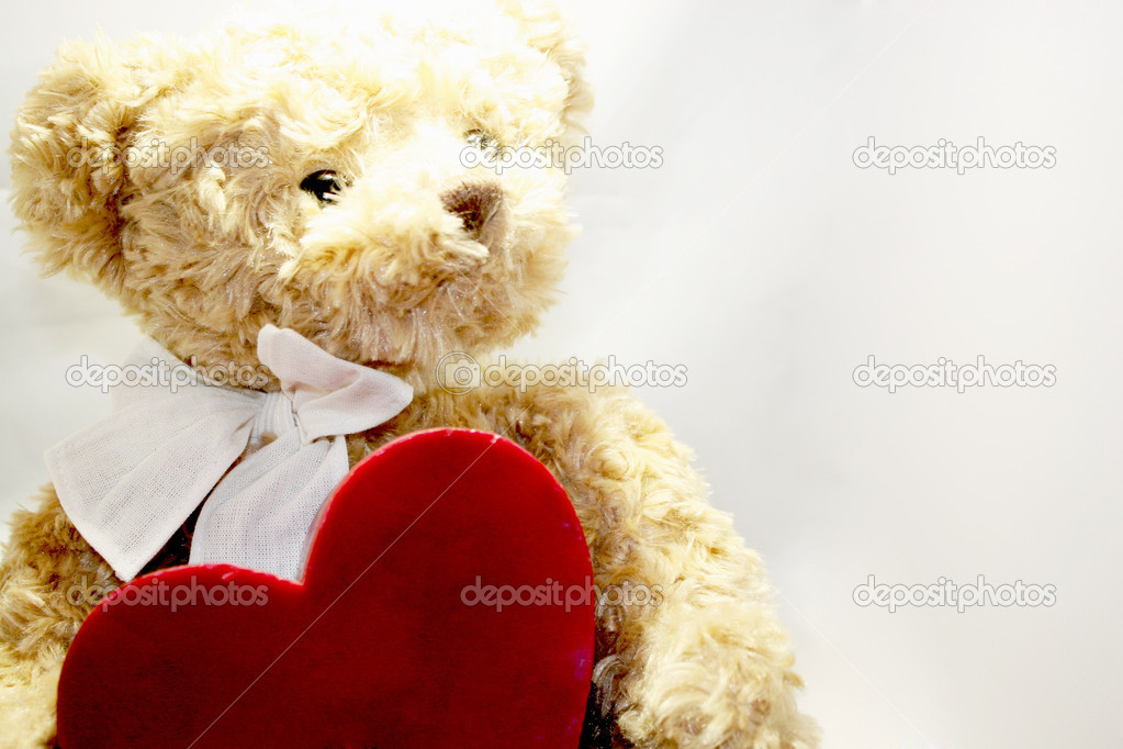 Teddy Bear With Roses And Love Lovely Teddy Bear With Heart