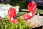 Italian sandals, platform shoes — Stock fotografie