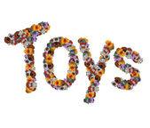 The Inscription Toys — Stock Photo