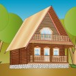 Wooden house — Stock Vector #30500733