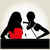 Karaoke — Stock Vector