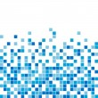 Vector seamless blue mosaic — Stock Vector