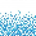 Vector seamless blue mosaic — Stock Vector