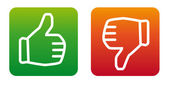 Thumb up thumb down vector icons — Stock Vector
