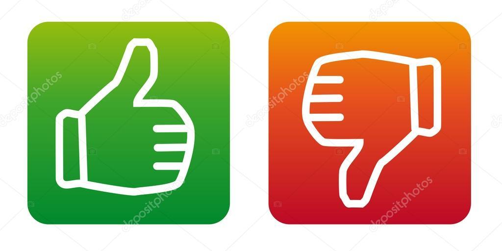 Duim omhoog duim omlaag vector iconen  u2014 Stockvector  u00a9 VectorPies #25112863