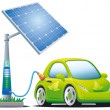 Electric car - Stock Vector