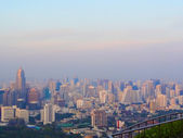 Bangkok panorama at sunset — Stock Photo
