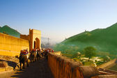 Panorama of Amer from the Amber Fort — Stock Photo