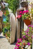 Picturesques street on Isola dei Pescatori — Stock Photo