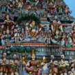 Hindu temple in Singapore at dusk — Stock Photo