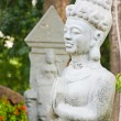 Statue in Po Nagar Hindu Cham temple in Vietnam — Stock Photo
