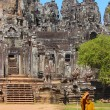 Stock Photo: Bayon Wat buddist monk