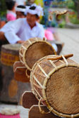 Tambores en templo hindú cham po nagar vietnam — Foto de Stock