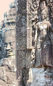 Relief in the temple of Bayon — Stock Photo
