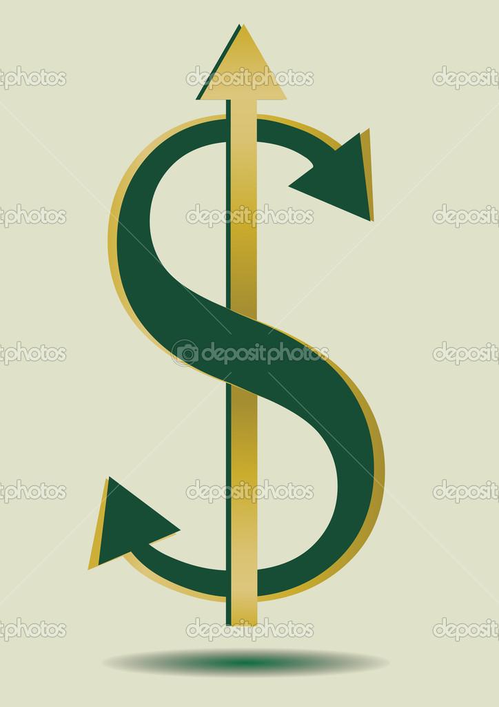 抽象美元符号 — 图库矢量图片