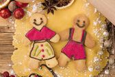 christmas gingerbread — 图库照片