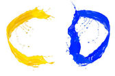 Barevné tekuté abeceda — Stock fotografie
