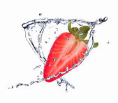 Fresh berry in water splash — Stock Photo