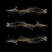 Water splash on black background — Stock Photo
