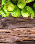 Fresh vegetable on wood — Stock Photo