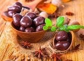 Nuts on wooden — Foto de Stock