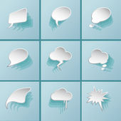 Clouds icons — Stock Vector