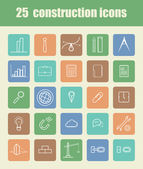 25 Construction icons — Stock Vector