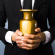 Man with urn — Stock Photo