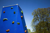 Climbing wall at playground in park — Stock Photo