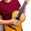 Royalty-Free Stock Photo: Young multiracial man playing flamenco guitar