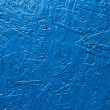 Plywood board painted blue background — Stock Photo