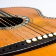 Old acoustic guitar detail — Stock Photo