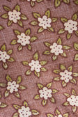 Flower patterned bed linen texture — Stock Photo