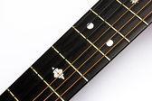 Fretboard guitarra acústica — Fotografia Stock