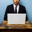 Businessman working on his laptop — Stock Photo