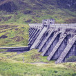 Stock Photo: Hydro power dam in mountain landscape