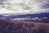 Bulutlar ve sis en yüksek dağları — Stok fotoğraf