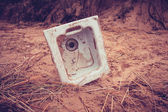 Old kitchen sink in the sand — Stock Photo