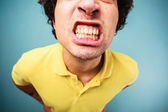 Man grinding his teeth — Stock Photo