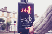 Push and wait for signal — Stock Photo