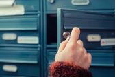 Verifica per posta — Foto Stock
