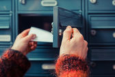 Checking for mail — Stock Photo