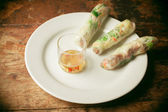 Summer rolls on plate — Stockfoto