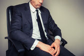 Sad and tired businessman — Stock Photo